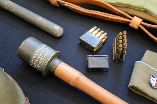 Artifacts from the Texas Military Forces Museum at Camp Mabry in Austin. Photo by Annette Crawford.