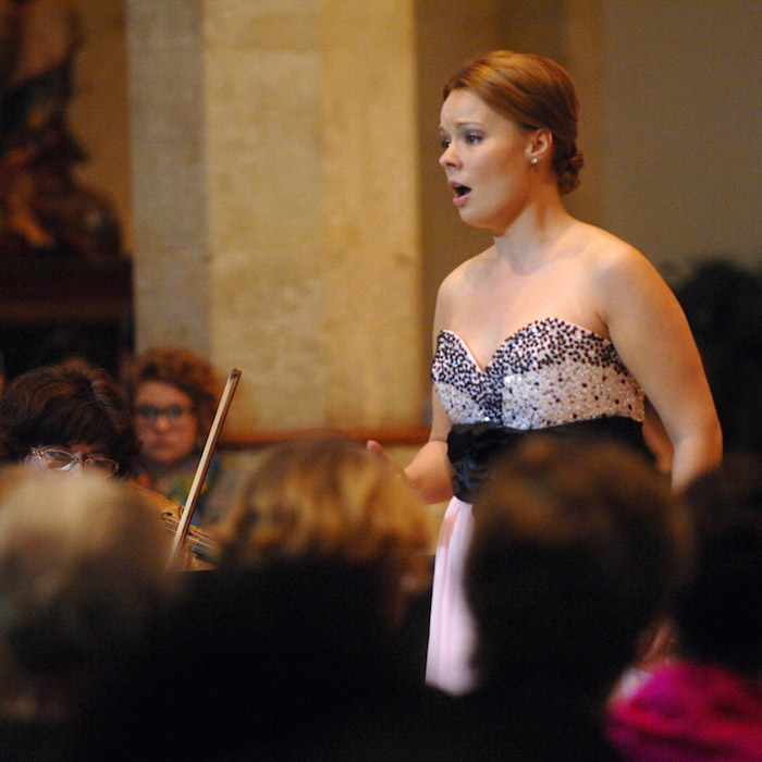 """Musical Bridges' """"From Russia With Love"""" concert featuring Ukrainian Soprano Uliana Alexyuk. Photo by Ken Mahnke."""