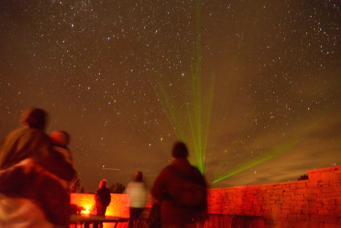 Visitors gather before a Star Party. Photo by Gretchen Greer.