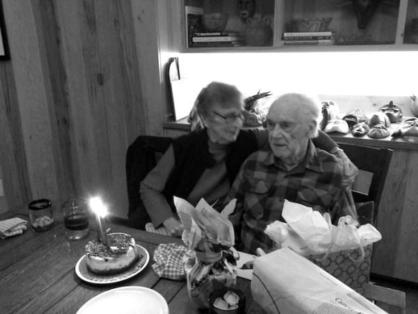 John and Hilde Maeckle celebrate John's 93rd Birthday on Nov. 26, 2014. Courtesy photo.