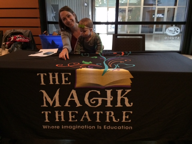 Urban Baby Moira McNeel with Shelley Weber at Wake Up Brother Bear. Photo by Bekah McNeel.