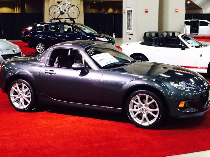 A Mazda Miata on display at the San Antonio Auto and Truck Show. Photo by Katherine Nickas.
