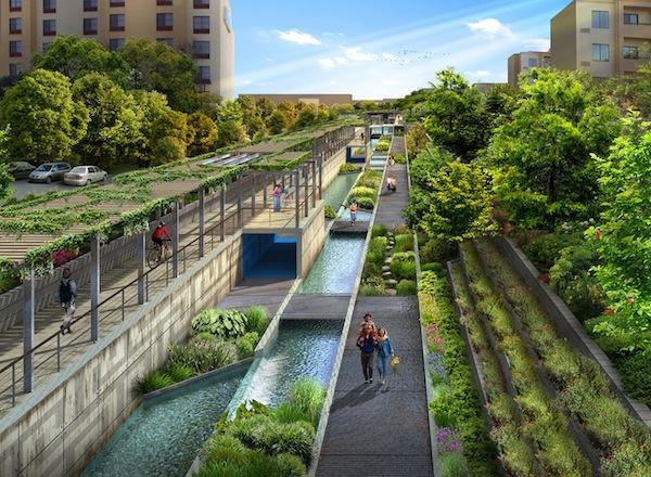 San Pedro Creek Feasibility Study, designed by Muñoz & Co. Courtesy image.