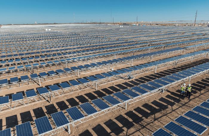 The Alamo 4 Solar Farm in Bracketville, Texas. Image courtesy of OCI Solar Power.