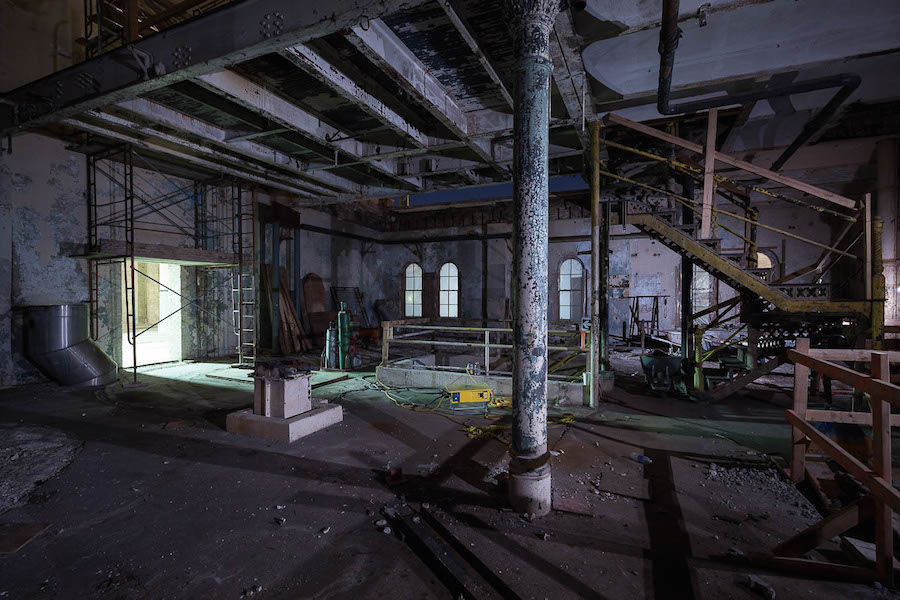 The Pearl brewhouse under construction. Photo by Scott Martin.