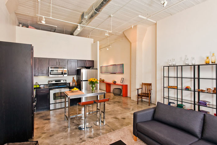 A model apartment-turned-condo at the Steel House Lofts. Courtesy photo.