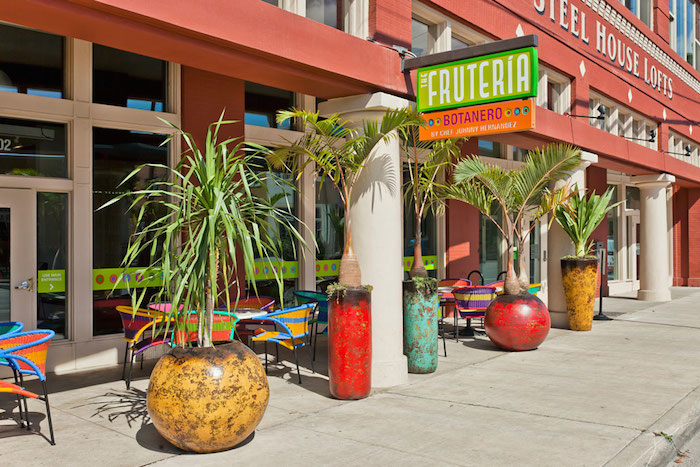 La Fruteria occupies a section of the ground floor of the Steel House Lofts. Courtesy photo.