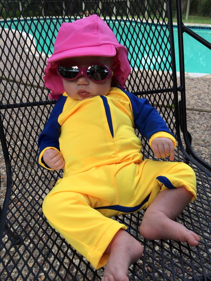 Moira McNeel in her swim gear at age 3 months. Courtesy Photo.