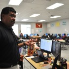 Lupe Vasquez, business teacher at Brackenridge HS. Photo by Iris Dimmick.