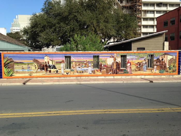 Mural along E. Cesar E. Chavez Boulevard outside of Casa Navarro. Photo by Scott Gustafson.