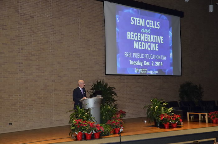 Dr. William Henrich, president of UTHSCSA, shares his story. Photo by Cherise Allegrini.
