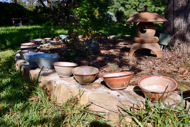 Bowls are everywhere at Dudley Harris' studio in Shady Oaks. Photo by Page Graham.