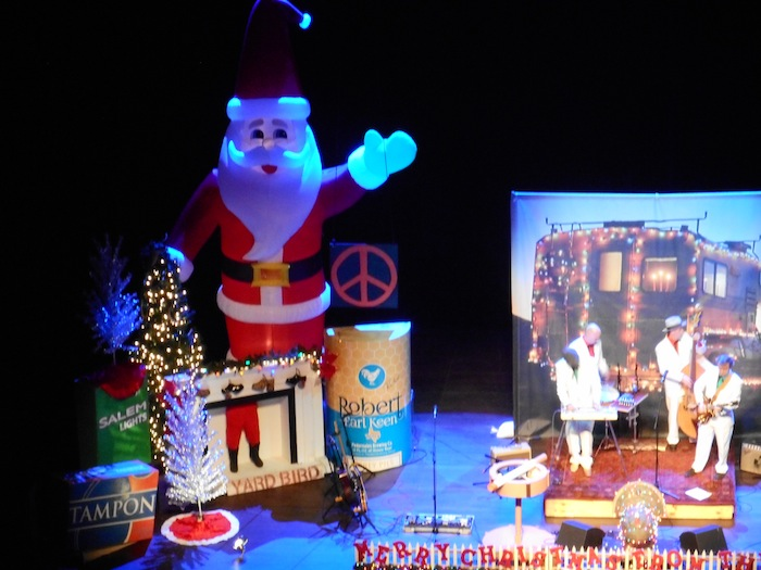 """The """"Xmas Men"""" warm up the Tobin audience for the Robert Earl Keen concert. Photo by Don Mathis."""