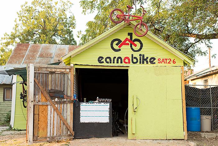 Earn-A-Bike Co-op. Photo by Rachel Chaney.