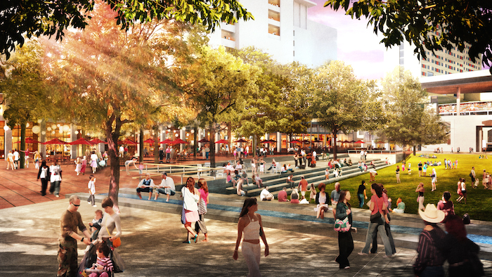Rendering of Hemisfair's Civic Park zolaco. Courtesy rendering.