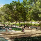 Rendering of Hemisfair's Civic Park shallows. Courtesy rendering.