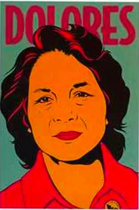 Barbara Carrasco, Dolores, 1999, Silkscreen. Courtesy of Self Help Graphics & Art.