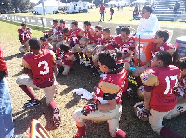 Seminoles Cadet team after Wednesday's loss at the American Youth Football (AYF) 2014 National Championship. Photo courtesy of Seminoles Assistant Coach Hector Alvarado Jr.