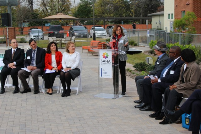 District 5 Councilmember Shirley Gonzales addresses attendees. Photo by Page Graham.