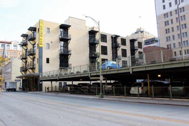 Downtown San Antonio needs more buildings repurposed as apartments like these in order to thrive. Photo by Page Graham.