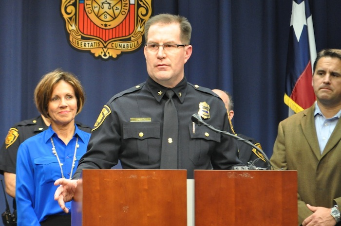 Deputy Chief Anthony Trevino will become Interim Police Chief on Jan. 1, 2015. Photo by Iris Dimmick.