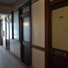 A fifth-floor hallway in the Maverick Building. Photo by Iris Dimmick.