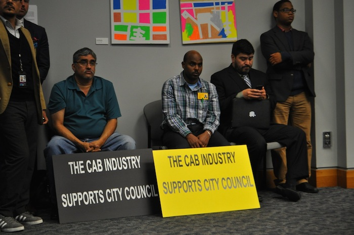 Citizens listen to San Antonio Police Chief William McManus' rideshare recommendations during B Session. Photo by Iris Dimmick.