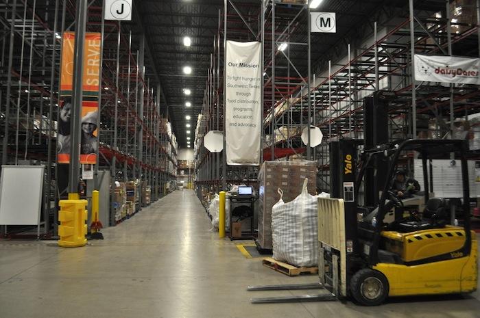 San Antonio Food Bank warehouse. Photo by Iris Dimmick.