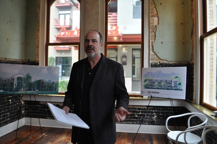 Steve Yndo, principal of SOJO Urban Development, describes the company's projects near the Pearl. Photo by Iris Dimmick.