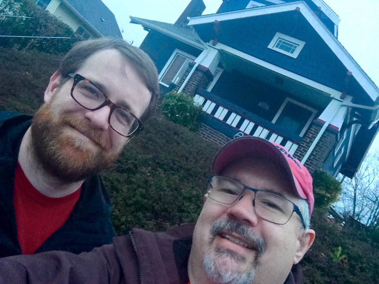 Brian Rountree and Hugh Donagher visit their new casa in Seattle.