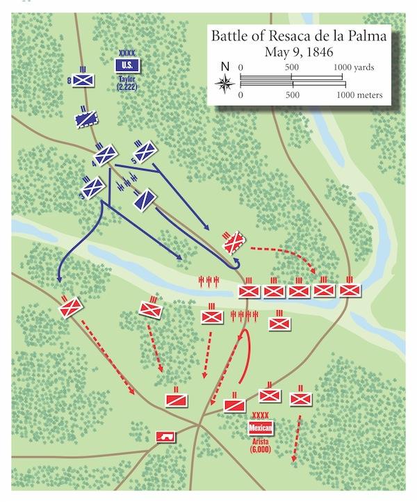 Map of the Battle of Reaca de la Palma courtesy of Armchair General.