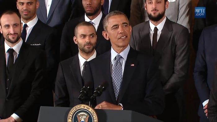 President Barack Obama Honors the San Antonio Spurs as 2014 NBA Champions. Photo courtesy of www.whitehouse.gov.