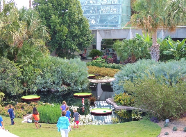 Conservatory Courtyard at Nature Connects Exhibit. Courtesy photo.
