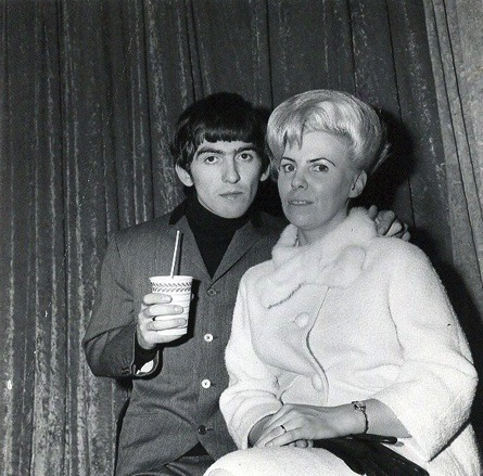Beatles 1: public domain A photo of George and Louise Harrison in the mid-1960s. Public domain image.
