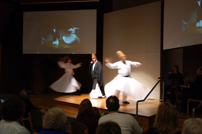 The Whirling Dervishes of Konya, Turkey perform at Whitley Theological Center at the Oblate School of Theology. Photo by Rene Jaime Gonzalez.