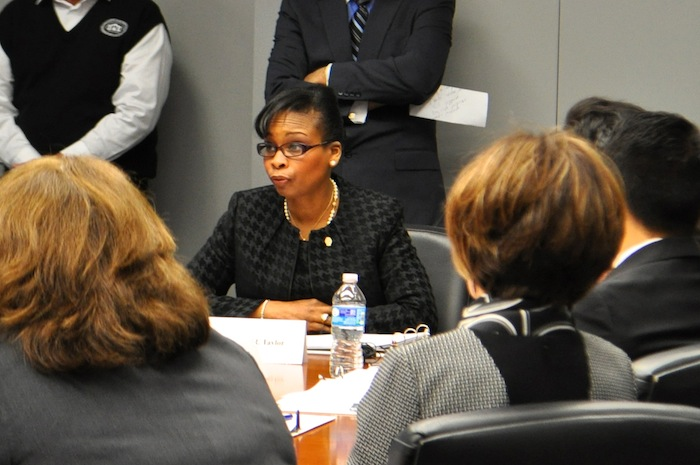 Mayor Ivy Taylor tables discussion of the police and fire union lawsuit to a future Governance Committee meeting. Photo by Iris Dimmick.