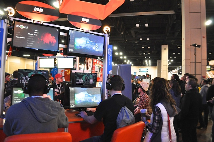 Attendees try out new games during the first PAX South in 2015.