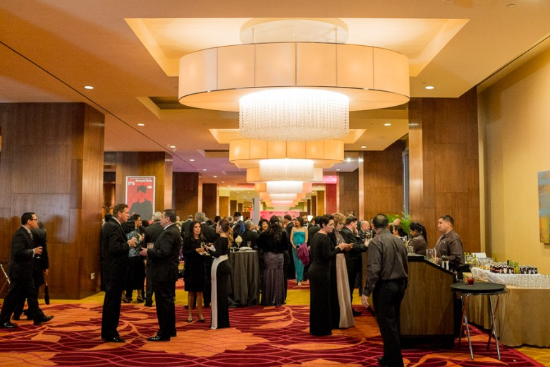 A mingling crowd forms at the 86th annual San Antonio Hispanic Chamber of Commerce Gala.