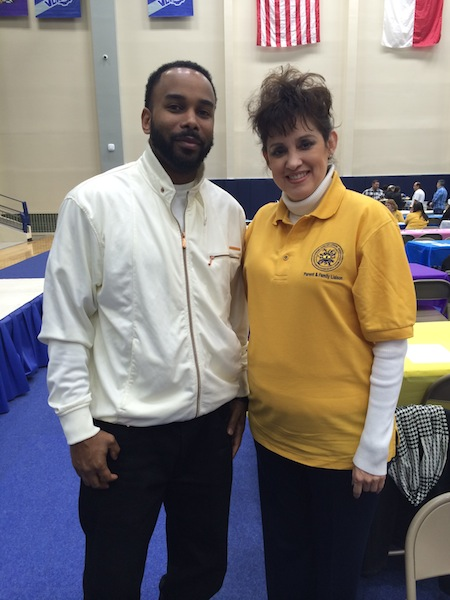 Shawn Griffin and Maria Monita, the Parent Family Liaison for C.C. Ball Elementary School. Photo by Bekah McNeel.