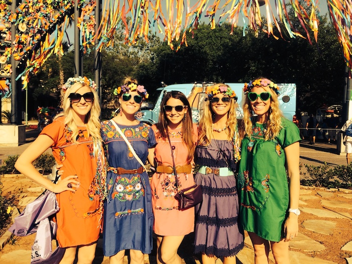 Rachel Holland and friends celebrate Fiesta. Courtesy photo.