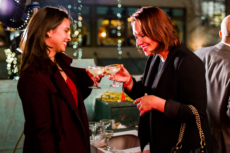 Katherine Tichenor and Brandy Grajeda cheers during the SACC opening night at The Majestic Theatre in January 2015. Photo by Scott Ball.