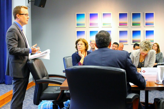 John Dugan addresses the Task Force. Photo by Page Graham.