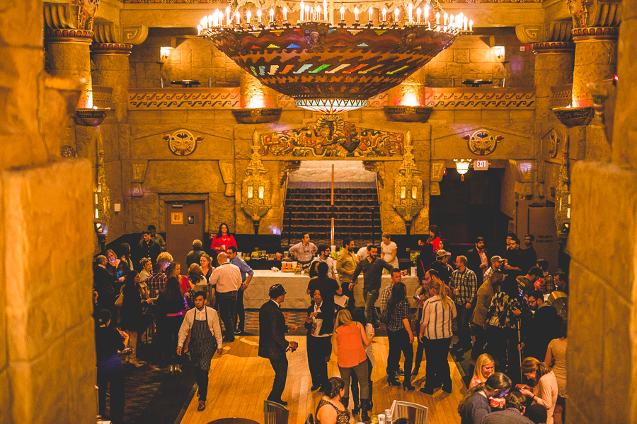 A view of the lobby at The Aztec Theatre during the SACC Original Cocktail Competition and closing party in January 2015. Photo by Scott Ball.