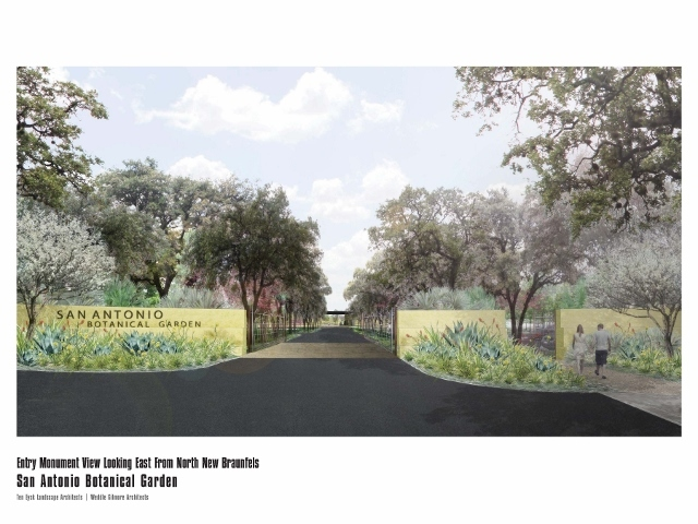 Rendering of San Antonio Botanical Garden's future entrance. Courtesy image.