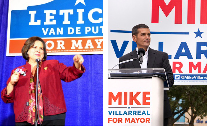Mayoral candidates Leticia Van de Putte (left) and Mike Villarreal (right). Photos by Page Graham and Al Rendon, respectively.