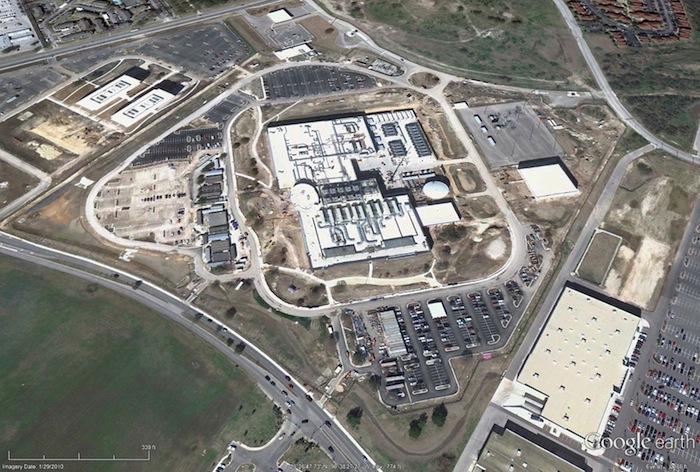 The National Security Agency building in San Antonio. Image via Google Earth.