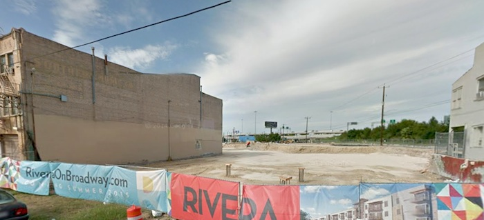 Rivera construction site  looking north from Jones Avenue.
