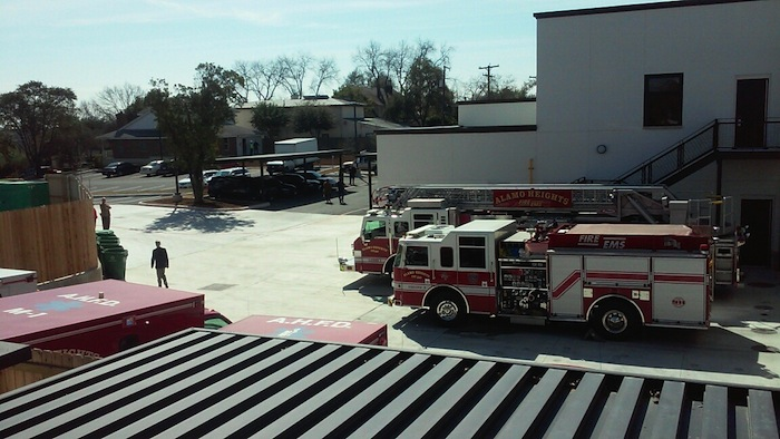 The view from the fire station balcony at the new Alamo Heights municipal complex. Photo by Edmond Ortiz.