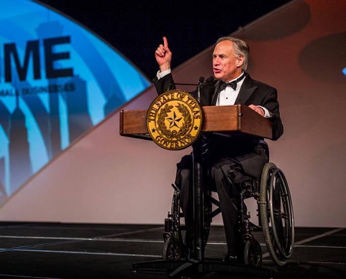 Gov. Greg Abbott at the 86th annual San Antonio Hispanic Chamber of Commerce gala. Photo by Scott Ball.