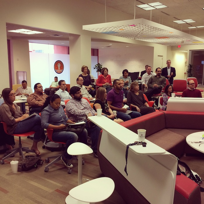 1 Million Cups hosted every Wednesday from 9 a.m. - 10 a.m. in Café Commerce at the Central Library. Courtesy photo.